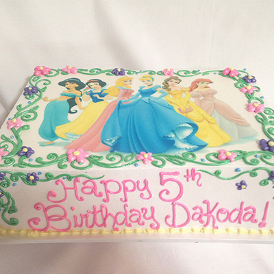 Disney Princess Cake The Pink Elephant Bakery